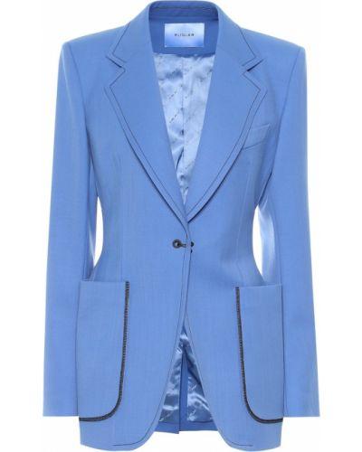 Костюмный синий пиджак Mugler