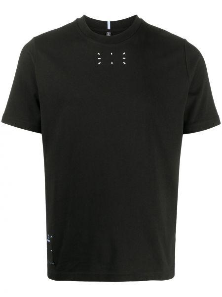 Bawełna prosto czarny koszula krótkie z krótkim rękawem krótkie rękawy Mcq Alexander Mcqueen