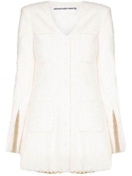Bawełna nylon beżowy długa kurtka z kieszeniami Alexander Wang