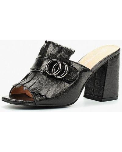 Черное сабо кожаные Vivian Royal