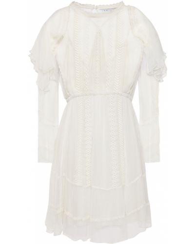 Кружевное платье мини с вышивкой из вискозы Iro