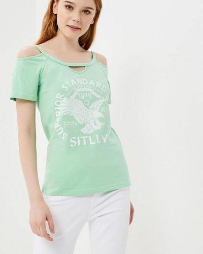 Футболка зеленый Sitlly