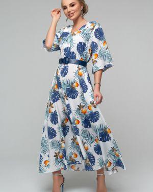 Нарядное с рукавами платье с декольте Петербургский Швейный Дом