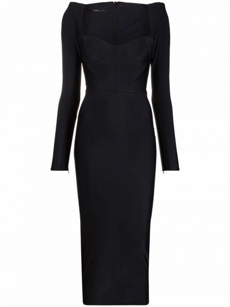 Платье миди - черное Alex Perry