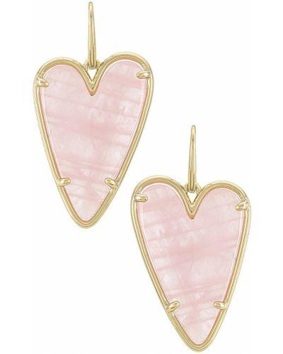 Złote kolczyki - różowe Kendra Scott