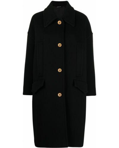 Черное кашемировое пальто классическое с воротником Givenchy