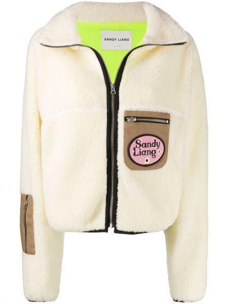 Желтая куртка из овчины на молнии Sandy Liang