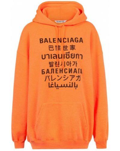 Pomarańczowa bluza bawełniana Balenciaga
