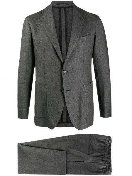 Bawełna kostium garnitur zapinane na guziki z klapą Tagliatore