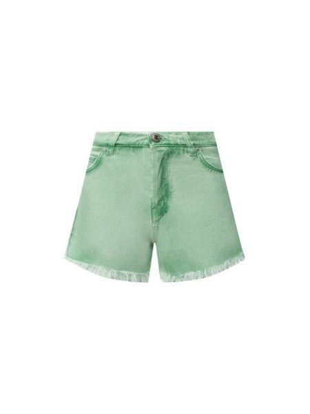 Хлопковые джинсовые шорты со стразами Two Women In The World