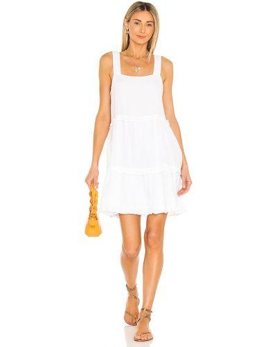 Льняное белое платье с подкладкой Rails