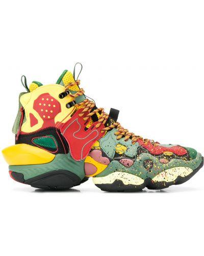 Кожаные кроссовки - зеленые Li-ning