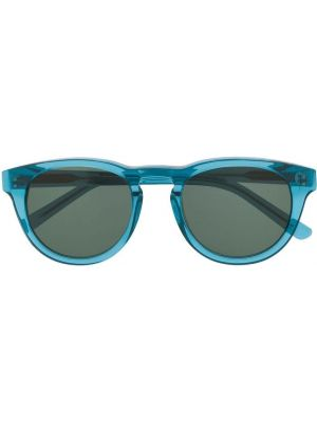 Прямые муслиновые солнцезащитные очки круглые хаки Han Kjøbenhavn
