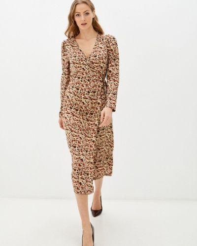Платье с запахом - бежевое Pieces
