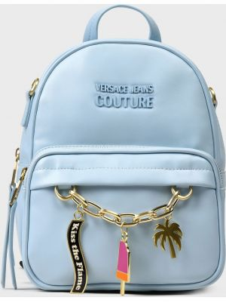 Кожаный рюкзак - голубой Versace Jeans Couture