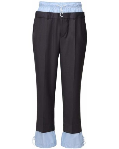 Шерстяные серые спортивные спортивные брюки с карманами Ziq & Yoni