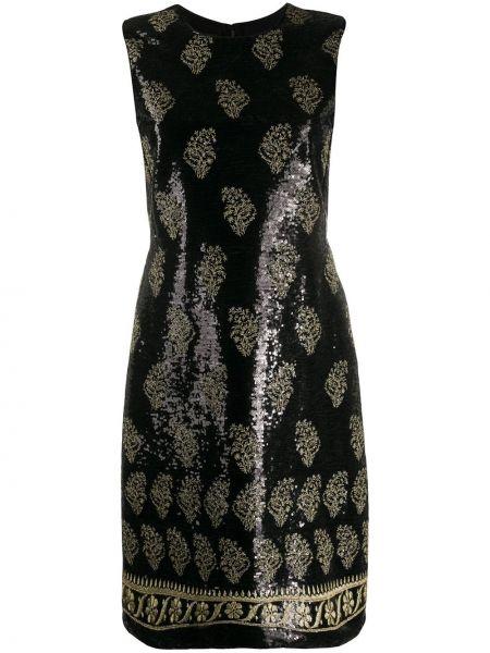 Шелковое платье - черное Giambattista Valli
