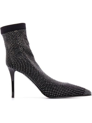 Черные носки на каблуке без застежки Le Silla