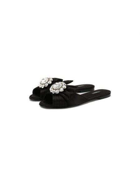 Шлепанцы на каблуке с бантом Dolce & Gabbana