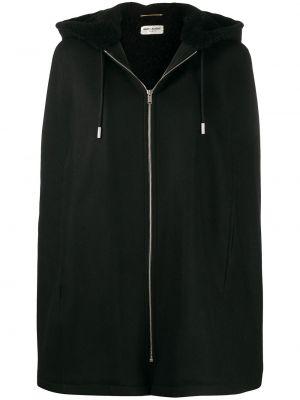 Куртка с капюшоном - черная Saint Laurent