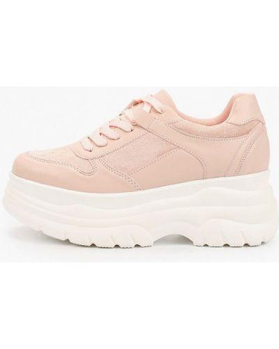 Розовые кожаные кроссовки Saivvila