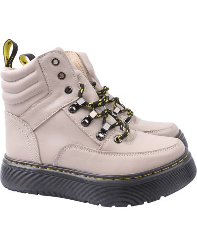 Кожаные ботинки - бежевые Masheros