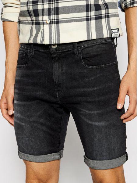 Szorty jeansowe - czarne G-star Raw
