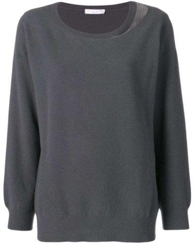 С рукавами серый шерстяной длинный свитер Fabiana Filippi