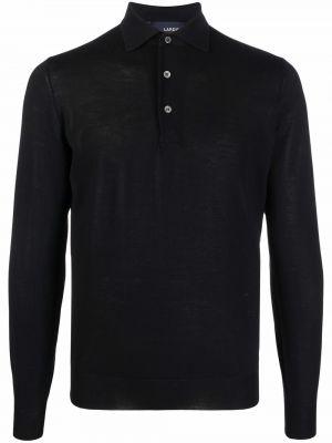 Czarna koszula z długimi rękawami Lardini