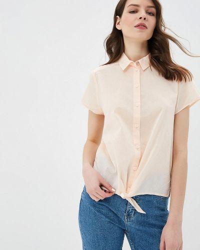 Блузка с коротким рукавом розовая весенний Q/s Designed By