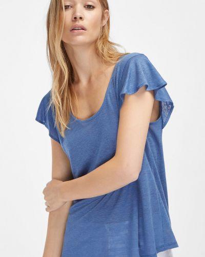 Синяя футболка Massimo Dutti