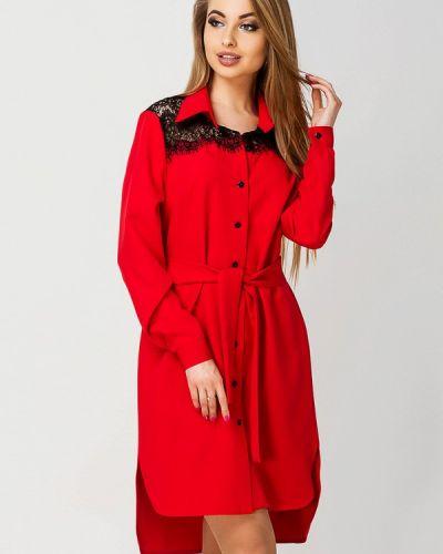 Красное платье весеннее Leo Pride