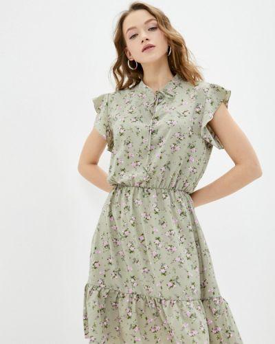 Прямое зеленое платье А-силуэта Froggi