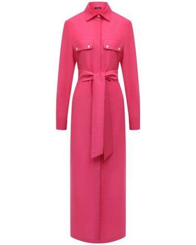 Хлопковое розовое платье Kiton