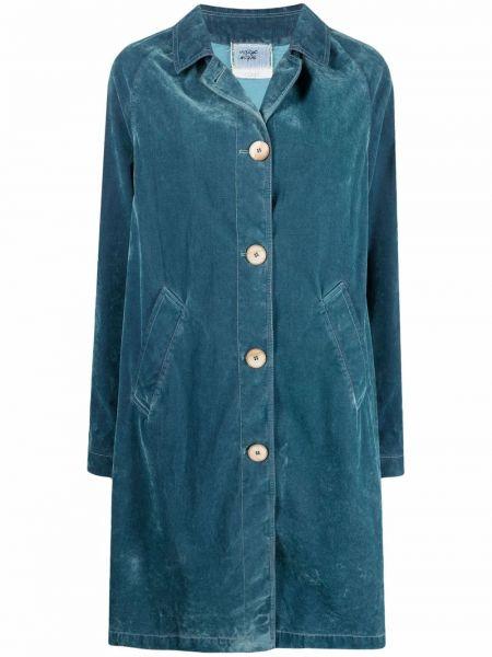 Длинное пальто - синее Forte Forte