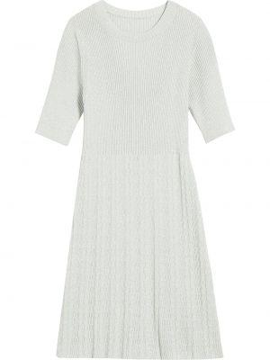 Шерстяное облегающее серое платье миди Marc Jacobs