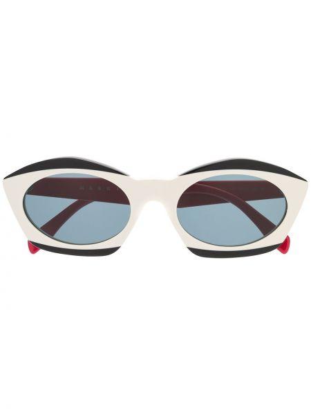 Прямые муслиновые черные солнцезащитные очки Marni Eyewear
