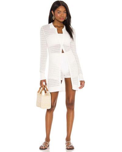 Biały światło włókienniczy tunika za pełne Devon Windsor