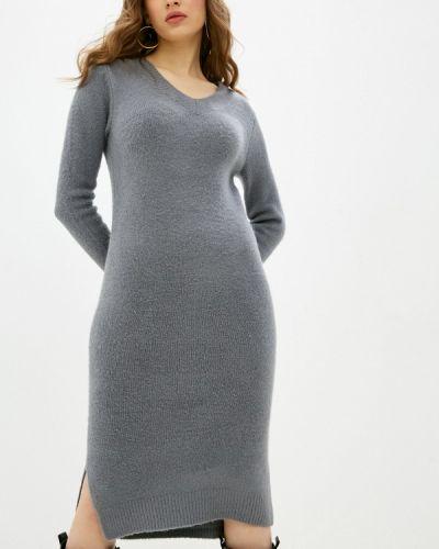 Серое вязаное трикотажное платье Top Secret