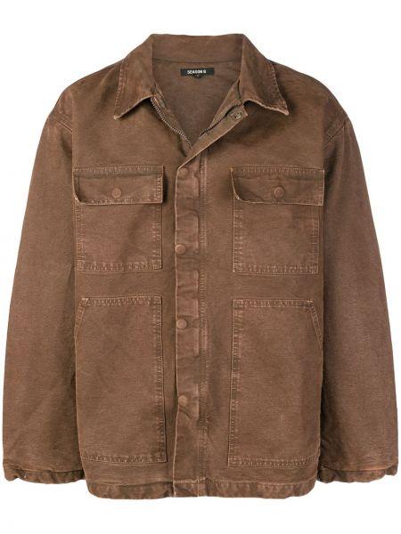 Brązowy płaszcz bawełniany Yeezy