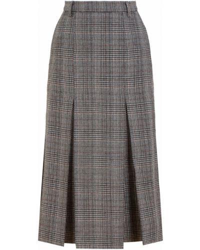 Шерстяная серая юбка миди Laroom