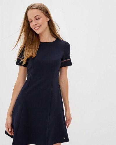 Синее прямое платье Tommy Hilfiger