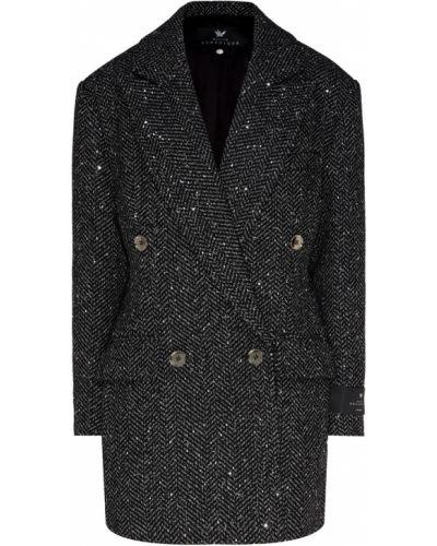 Синий пиджак твидовый двубортный Maison Bohemique