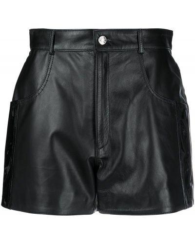 Кожаные черные шорты Manokhi