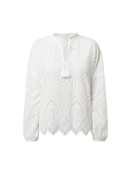 Biała bluzka z długimi rękawami koronkowa Christian Berg Women