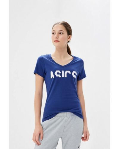 Синяя футболка 2019 Asics
