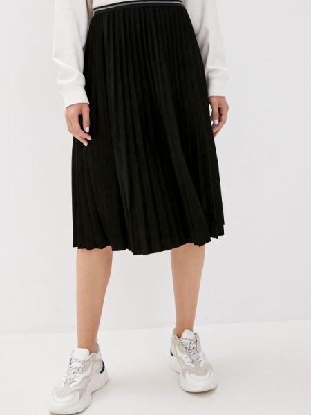 Плиссированная юбка весенняя черная Shelter