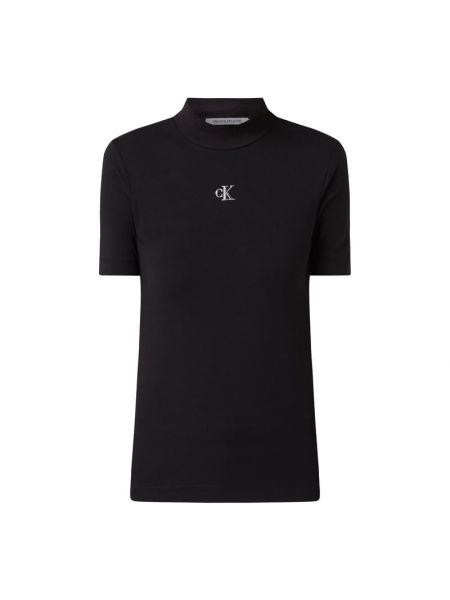 Bawełna bawełna czarny koszula jeansowa ze stójką Calvin Klein Jeans