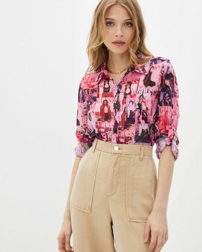 Розовая блузка с длинными рукавами Guess Jeans