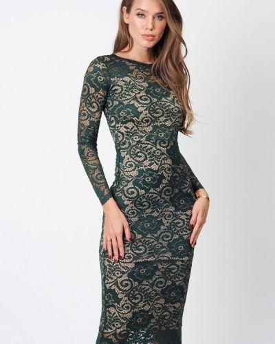 Вечернее платье осеннее зеленый Margo